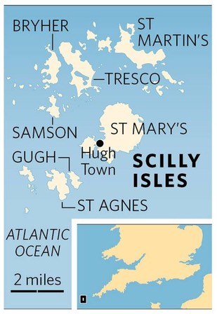scilly isles map
